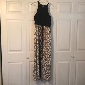 High Neck Long Semi-Formal Dress